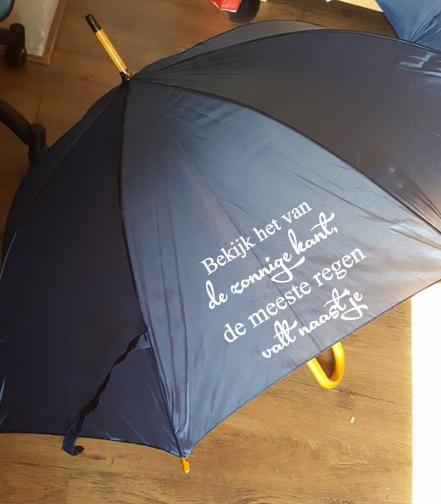 Paraplu bekijk het leven van de zonnige kant