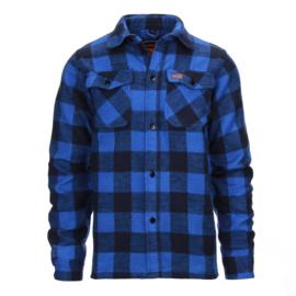 Houthakkers overhemd Longhorn - Blauw