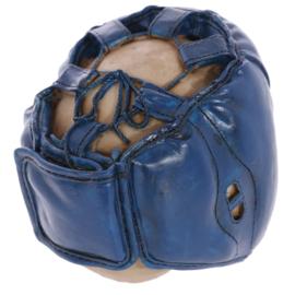 Schedel met bokshelm-blauw