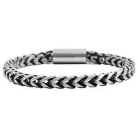 Armband kleur 2 rvs - 4342 met magneetsluiting