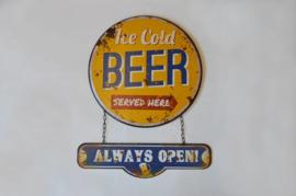 Wandplaat Ice Cold Beer