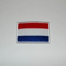 Embleem stof vlag Holland middel 10901