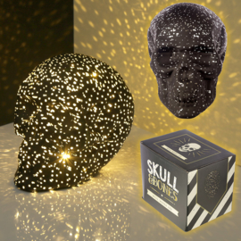 Schedel Zwart Sterlicht LED
