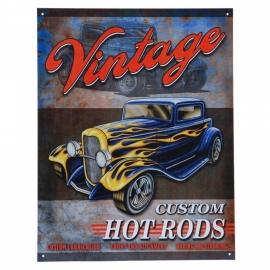Metalen plaat groot. Hot Rod garage