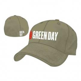 Green Day Grenade Logo Grey Flex Cap