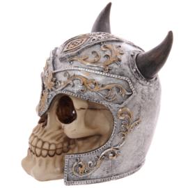 Schedel met vikinghelm