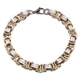 Konings armband edelstaal- 102 bicolor
