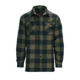 Houthakkers Overhemd Longhorn - Zwart/Olive