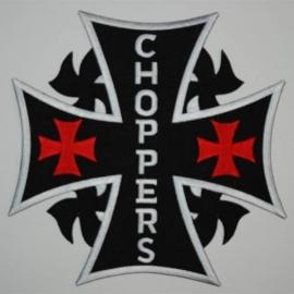 Embleem stof choppers (kruis groot)