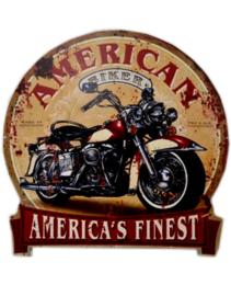 Metalen Wandplaat Rond - American Finest