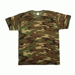 T-shirt Camouflage US