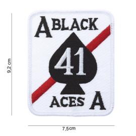 Embleem stof black aces