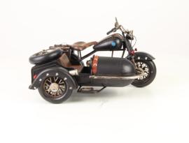 Metalen Model Motor Met Zijspan