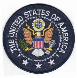 Embleem stof United States of America (eagle)