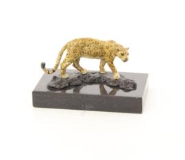 Bronzen Beeld Sluipende Jaguar
