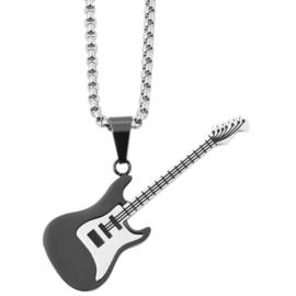 Halsketting met gitaar rvs - 002