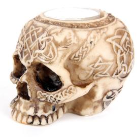 schedel theelichthouder - A