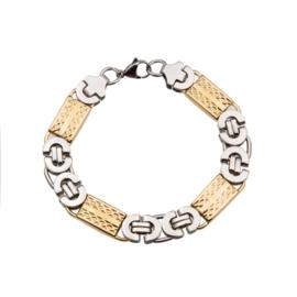 Konings armband edelstaal - 003 bicolor
