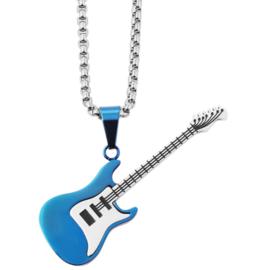 Halsketting met gitaar rvs - 003