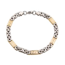 Konings armband edelstaal - 009 bicolor