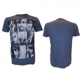 Tupac Grey Collage Photos Heren T-Shirt