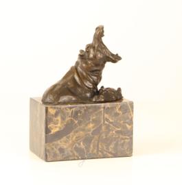 Bronzen Beeld Badderende Nijlpaarden