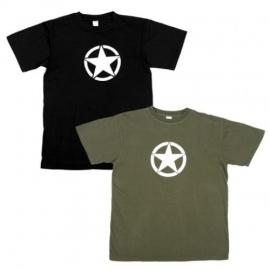 T-shirt met witte ster