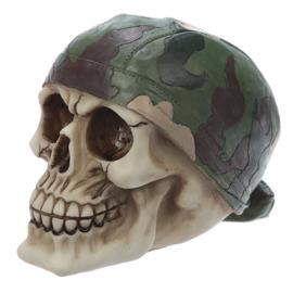 Schedel met Camouflage Bandana