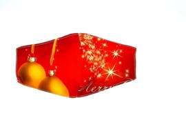 Mondkapje Wasbaar Kerst Rood