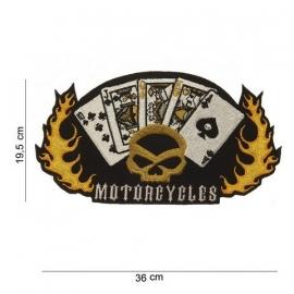Embleem stof motorcycles (groot)