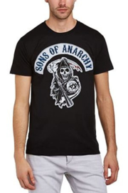 Sons of Anarchy- logo patch t-shirt