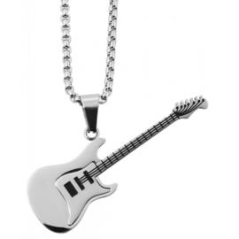 Halsketting met gitaar rvs - 001