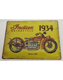 Metalen Wandplaat - Indian Motorcycle