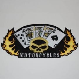 Embleem stof motorcycles (middel)