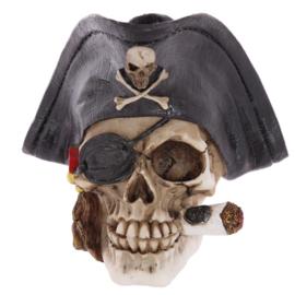 Piraten schedel met sigaar