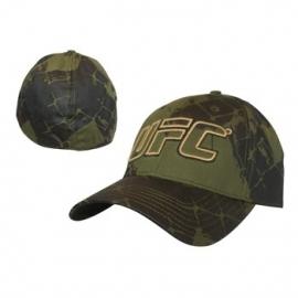 UFC Green with Yellow Logo Flex Cap