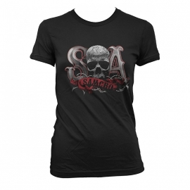 Sons of Anarchy - SAMCRO Skull Dames T-shirt - Black