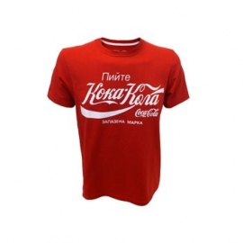 Coca Cola  Red T-Shirt With Russian Logo