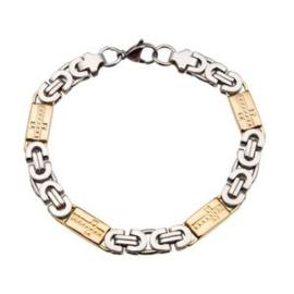 Konings armband edelstaal bicolor - 035