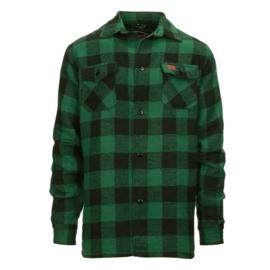 Houthakkers overhemd Longhorn - Groen/Zwart