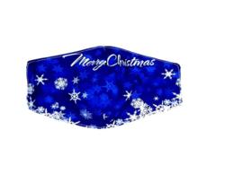 Mondkapje Wasbaar Kerst Blauw
