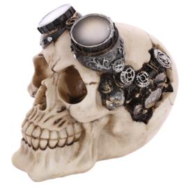 Steam Punk Decoratieve Schedel Motorbril