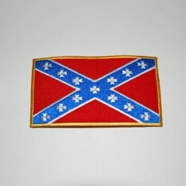 Embleem stof rebel vlag (middel)
