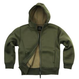 Hooded neoprene vest groen