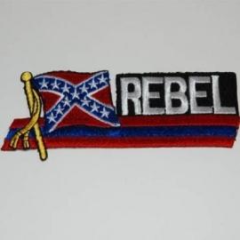 Embleem stof Rebel wapperende vlag