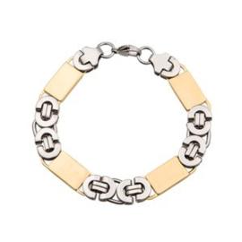 Konings armband edelstaal bicolor  - 005