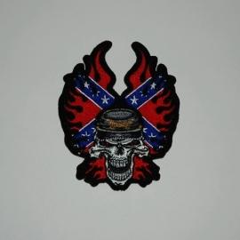 Embleem stof rebel skull (small) 11701
