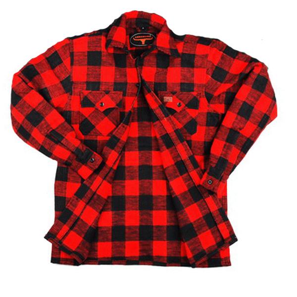 Houthakkers overhemd Longhorn - Rood