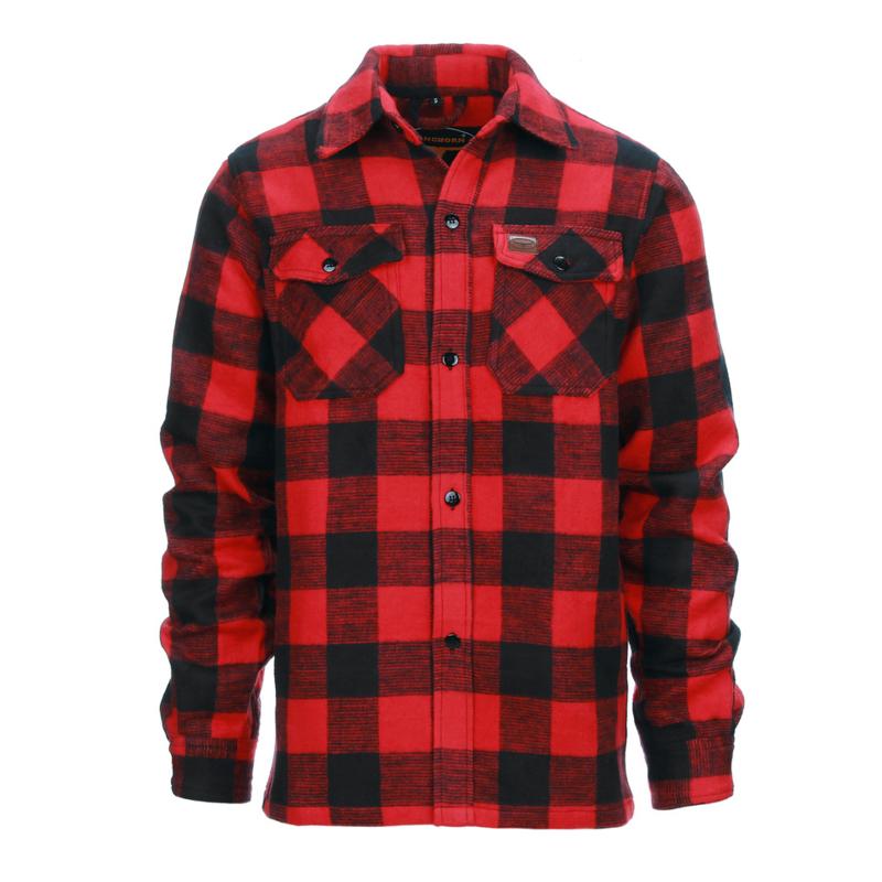 Houthakkers Overhemd Longhorn - Rood/zwart