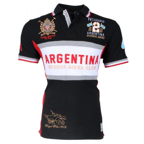 Geographical Norway - Polo - Kargentina ss men - Black